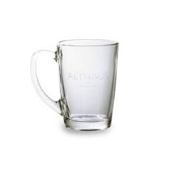 Cana din sticla cu farfurie 300ml Althaus